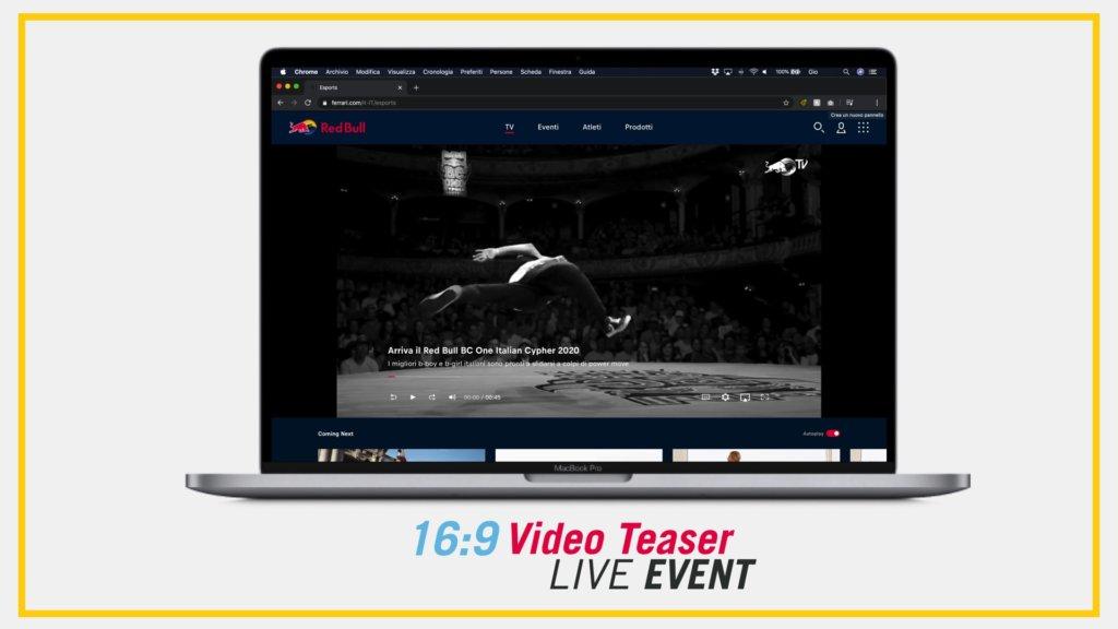 Mockup video Red Bull BC